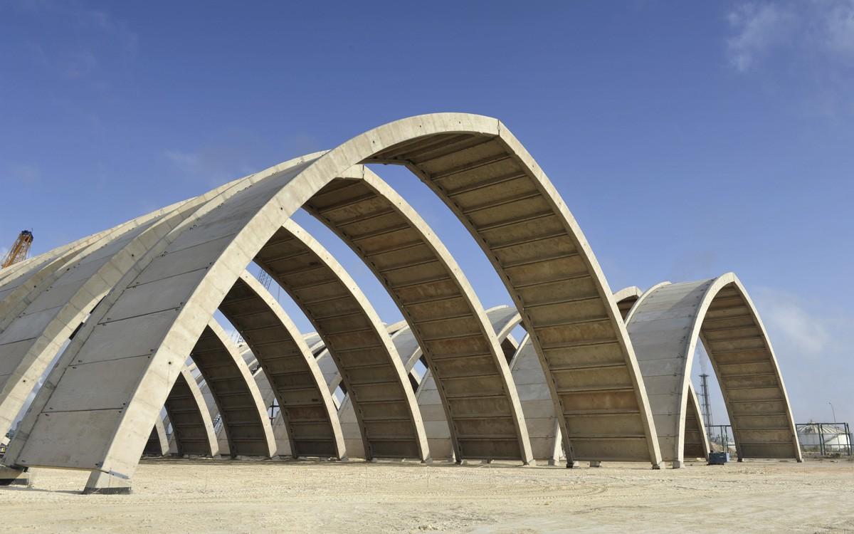Lagerhallen, Jorf Lasfar, Marokko
